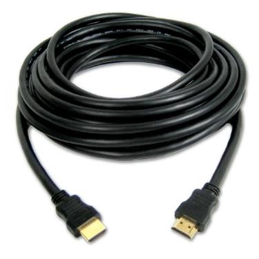 כבל שחור HDMI HDMI מוזהב (באורך 5 מטר איכותי)