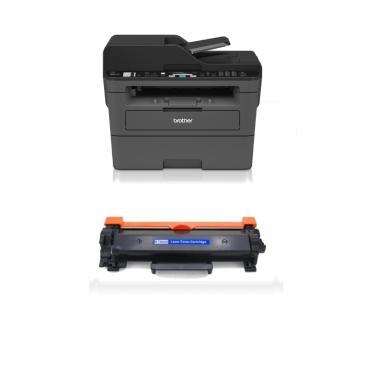 Brother MFC L2710DW מדפסת לייזר אלחוטית כולל פקס סורק ומכונת צילום (כולל טונר תואם נוסף)