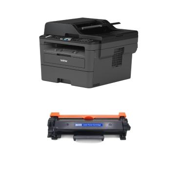 Brother MFC L2710DN מדפסת לייזר כולל פקס סורק ומכונת צילום (כולל טונר תואם נוסף)