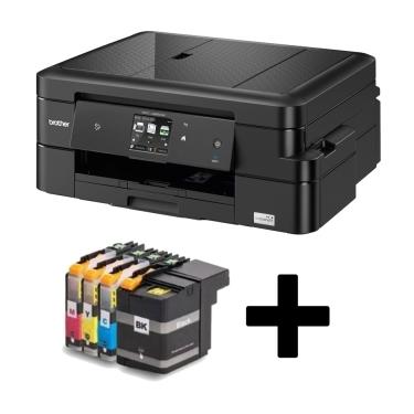 Brother MFCJ985 DW מדפסת הזרקת דיו אלחוטית צבעונית כולל מארז דיו תואם נוסף