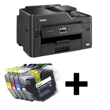 Brother MFC J5330DW מדפסת הזרקת דיו אלחוטית צבעונית כולל מארז דיו תואם נוסף
