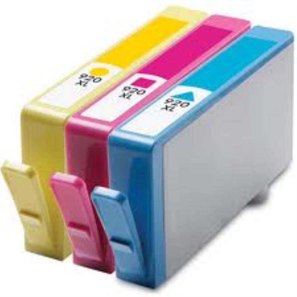 סט דיו שלושה צבעים תואמים HP 920XL