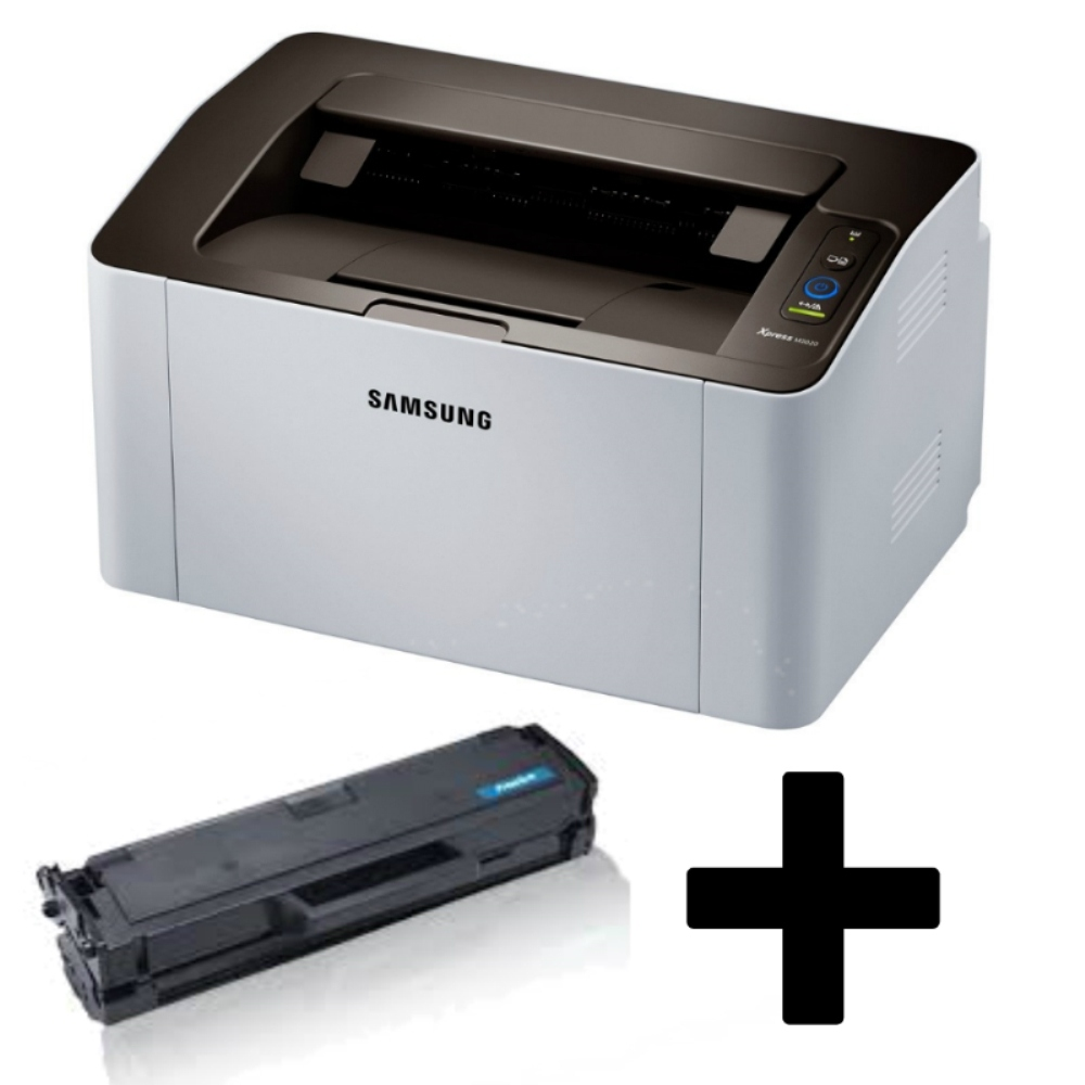 Samsung SL M2020W מדפסת לייזר אלחוטית שחור לבן קופמפקטית כולל טונר נוסף