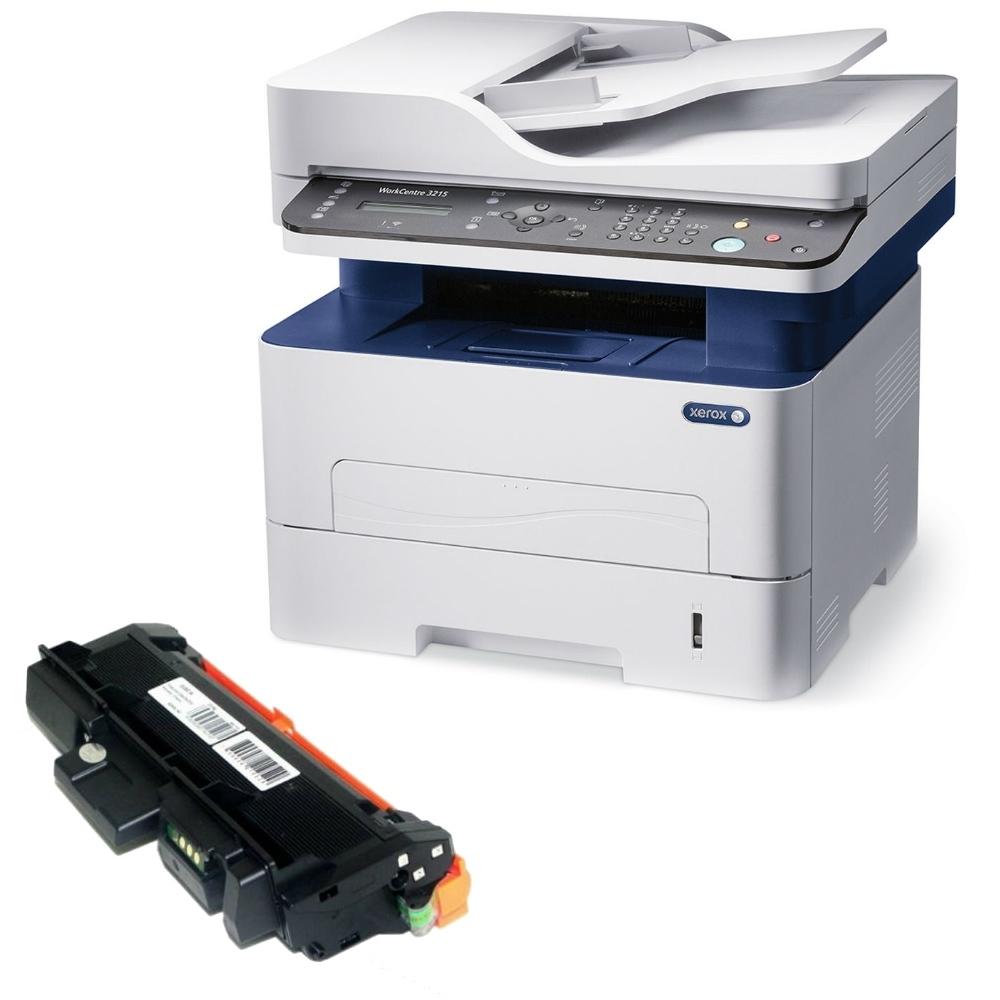 Xerox WorkCenter 3215 מדפסת לייזר שחור לבן משולבת פלוס טונר תואם נוסף