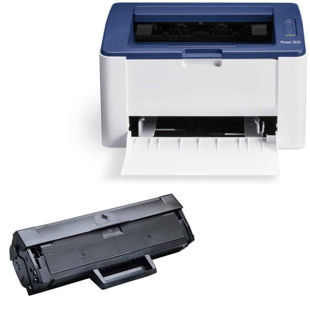 אדיר Xerox Phaser 3020B מדפסת לייזר שחור לבן קומפקטית כולל טונר תואם HU-82