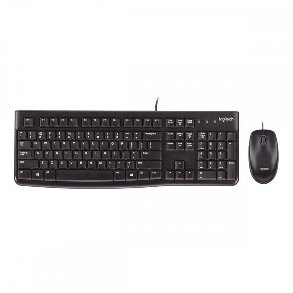 סט מקלדת ועכבר חוטי Logitech Desktop MK120 עברית ואנגלית