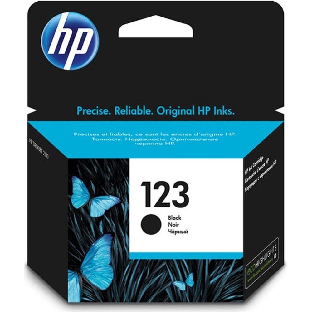 דיו שחור מקורי HP 123 F6V17AE
