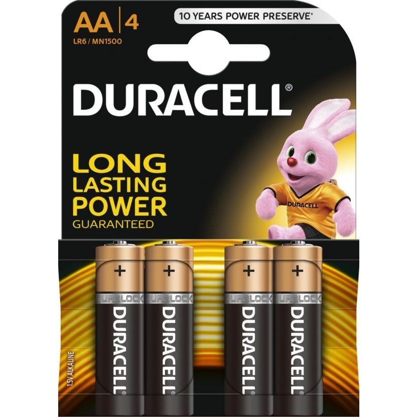 סוללות דורסל DURACELL AA ׁ (סט 4 יחידות) (עד גמר המלאי)