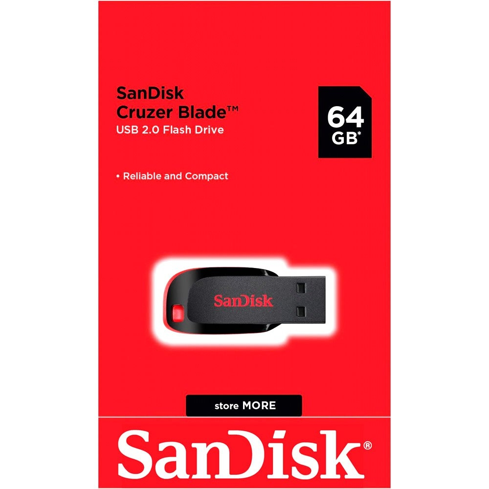 זכרון נייד USB SanDisk Cruzer Blade 64GB