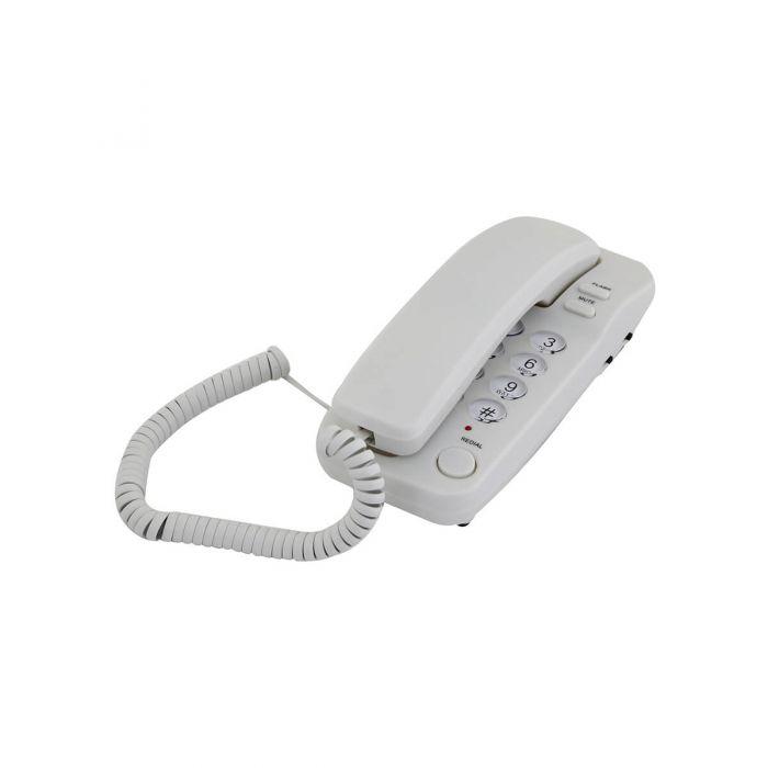 טלפון דקורטיבי שולחני לבן 1200B