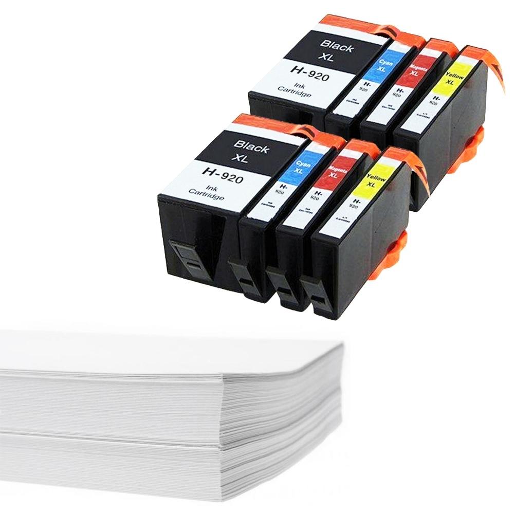 חבילת נייר ושני סטים דיו תואם HP 920XL
