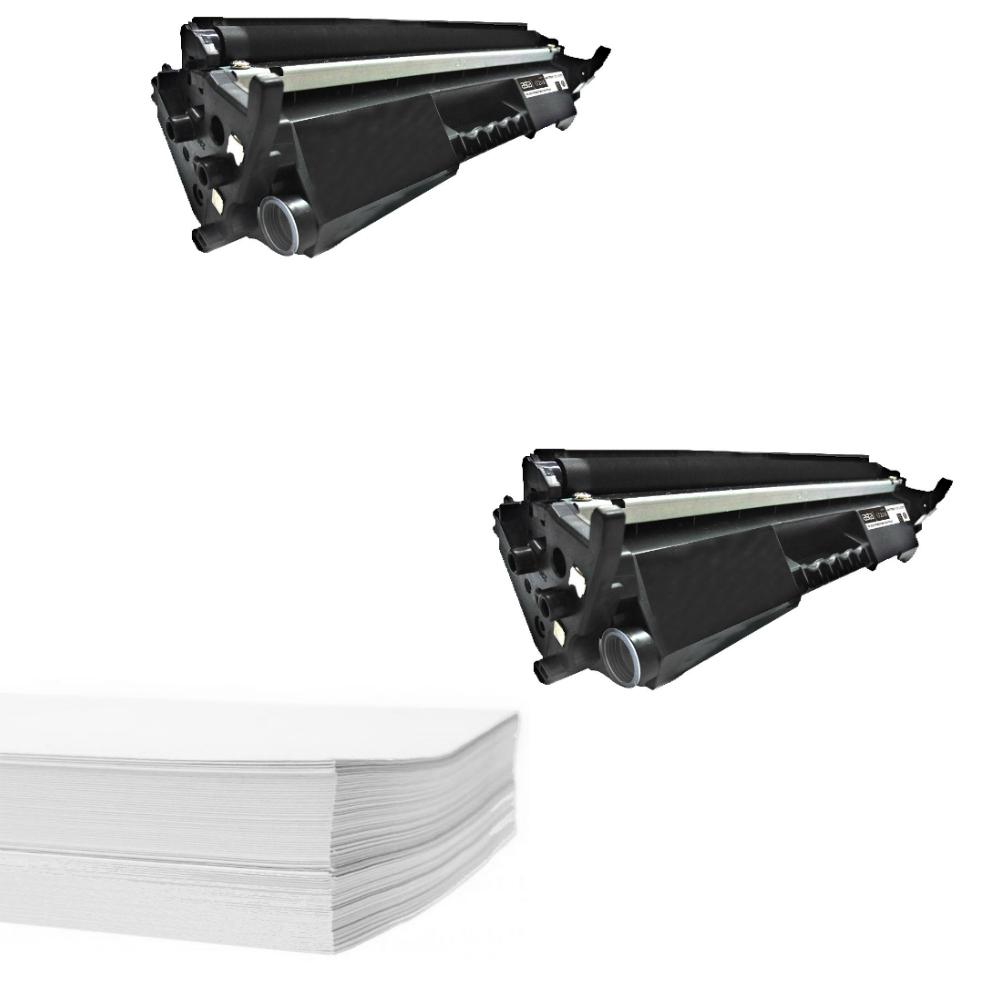 חבילת נייר וזוג טונרים תואמים HP 17A CF217A