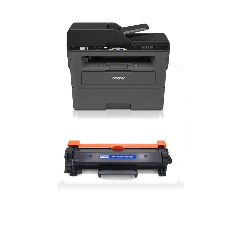 Brother MFC-L2710DW מדפסת לייזר אלחוטית כולל פקס סורק ומכונת צילום (כולל טונר תואם נוסף)