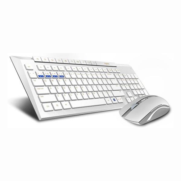 סט מקלדת ועכבר בלוטוס Rapoo 8200M (צבע לבן)